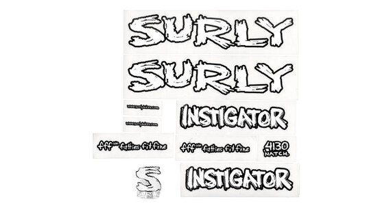 Surly Instigator Rahmen Sticker Kit weiß